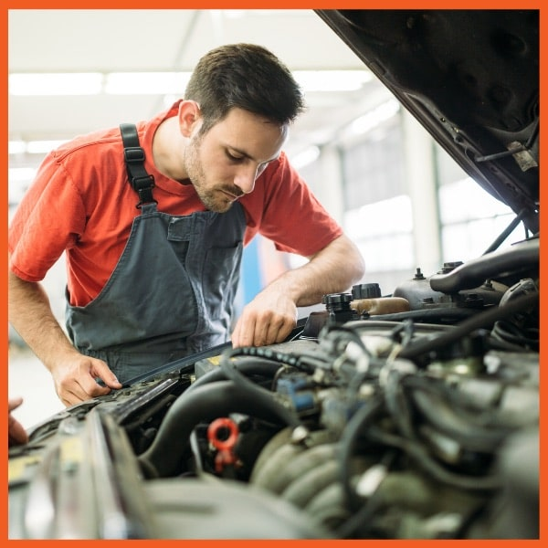 Mechanic Working Engine