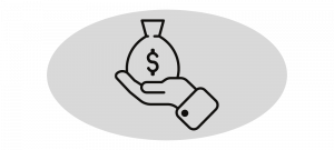 Fee Income - Hand Holding Bag of Cash