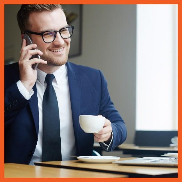 CPI Claims - Businessman on Phone