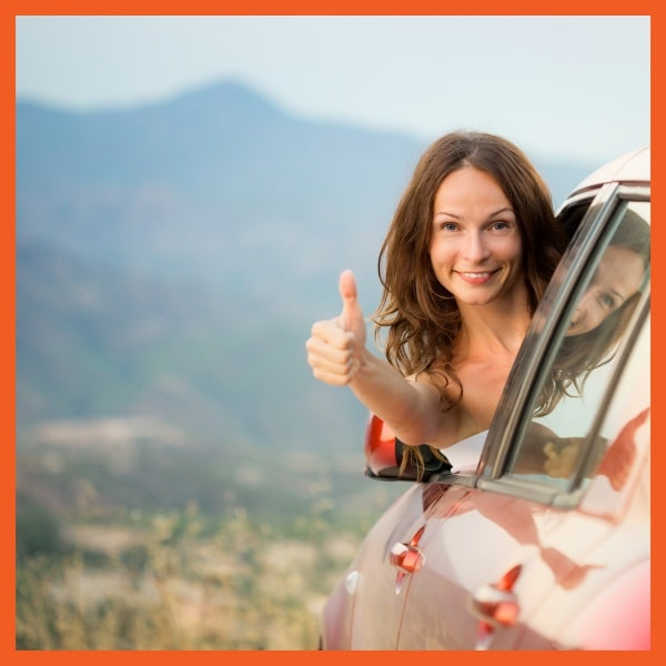 Lease Worry Free Woman in Car