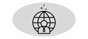 Operations Person and Globe