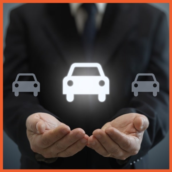 CPI - Loan Protection - Hands Holding Glowing Car Icon
