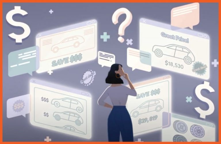 Car Buying - Woman Looking at Vehicle Offers