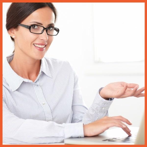 Equipment Management System - Woman Using Laptop