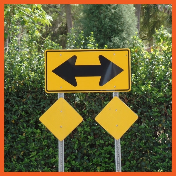 Equity Protection - Choice - Two Directions Street Sign