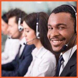 GAP - Service - Man Smiling at Call Center