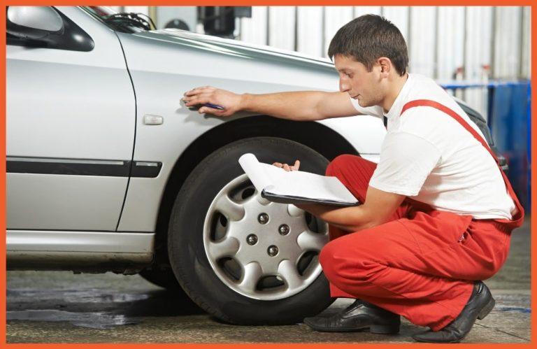 Lease Wear & Tear - Man Checking Vehicle
