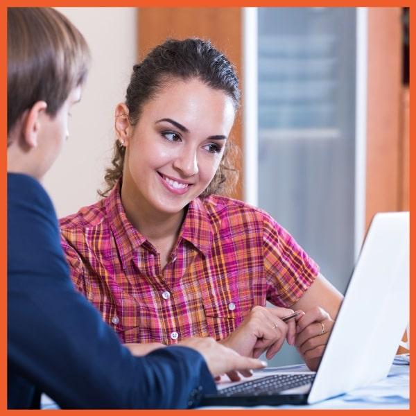 Technology - Menu Driven Sales - Woman on Laptop